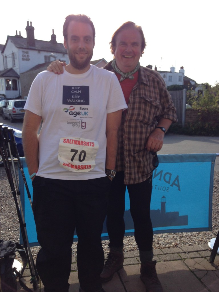 After 45 miles Chris Kelly with Richard Randall